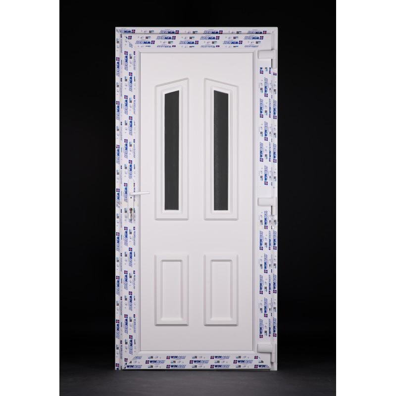 Pó műanyag bejárati ajtó