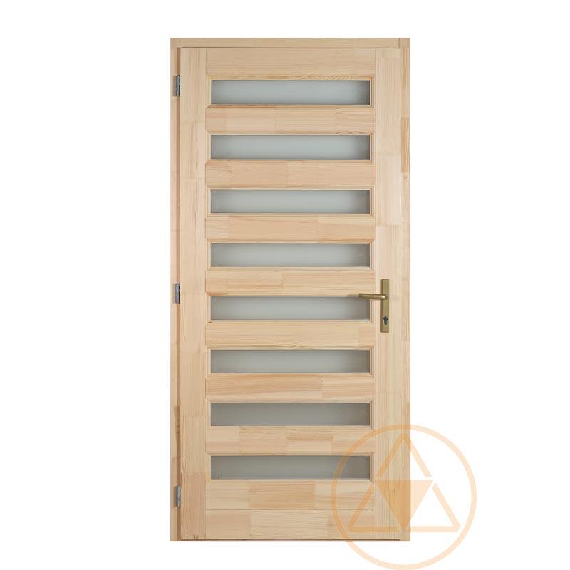 Zebra fenyő bejárati ajtó
