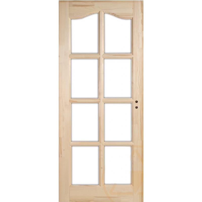 Íves kazettás fenyő beltéri ajtó