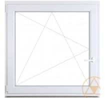 Bukó-nyíló műanyag ablak Gealan 74